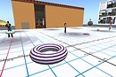a stripey innertube! - Spiral Theas