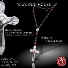 You's DOG HOUSE Rosario black&red