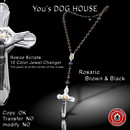 You's DOG HOUSE Rosario brown&black