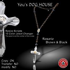 You's DOG HOUSE Rosario brown&black