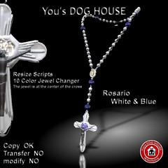 You's DOG HOUSE Rosario white&blue