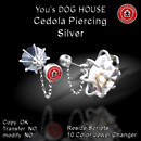 You's DOG HOUSE Cedola Piercing Silver