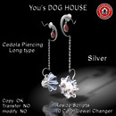 You's DOG HOUSE Cedola Piercing Long Tyep Silver