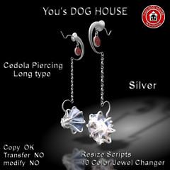 You's DOG HOUSE Cedola Piercing Long Tyep Silver