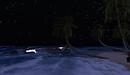 Starry night beach