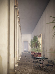 Corridor in Cuba