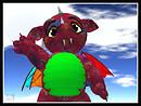 SL7B Contrary - ExtroVirtual Fizzlepop Dragons - Fruity Confetti Statue