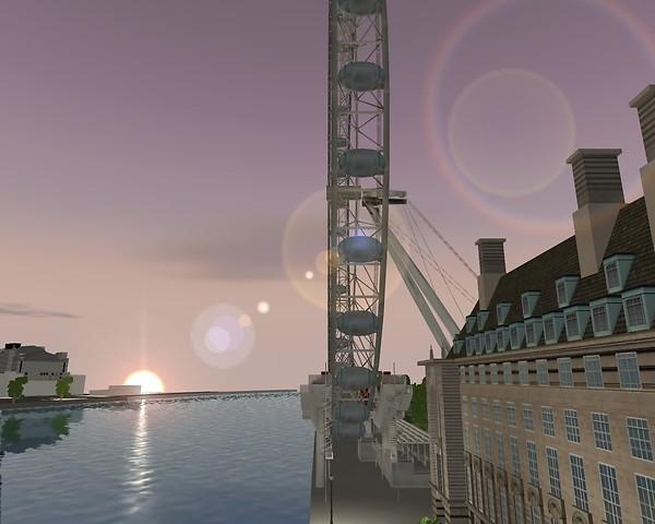 Sunset at London Eye