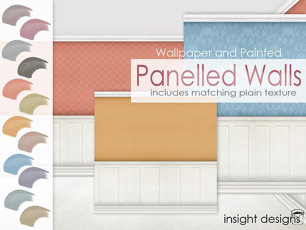 Panelled walls - wallpaper, paint, patterns
