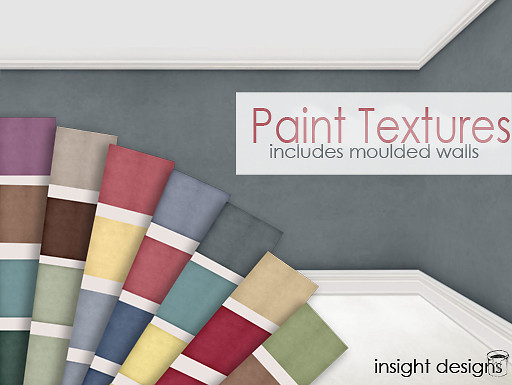 paint textures including moulded walls