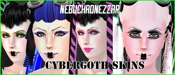 Cybergoth Skins line by NDN
