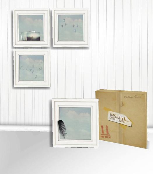 Freebie – Vintage Skies Texture Changing Memento Picture Frame