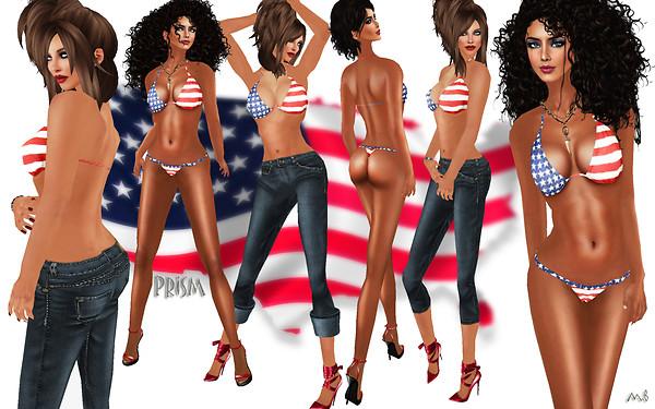 Prism 2010 July 4th Bikini with Jeans - Dollarbie
