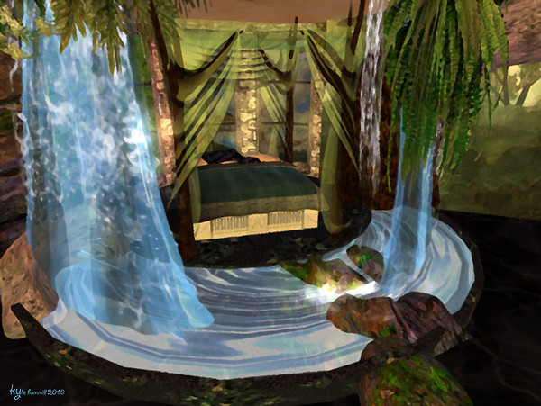 Serenity falls treehouse bedroom waterfall 2 - by kyri - Second ...
