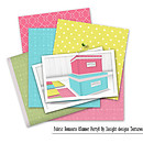 Freebie Gift: Pretty Storage boxes and fabric remnants.