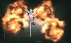 Runnig from explosion V1