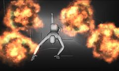 Runnig from explosion V2
