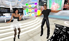 Shock and Soni dancin to soni's radio show
