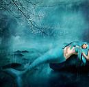 { Under her blue eyes ..}