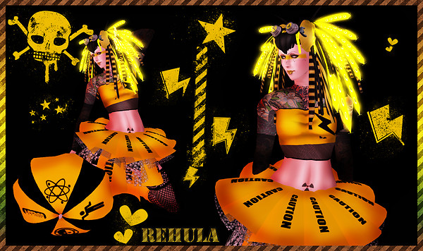 Rehula cybergoth caution