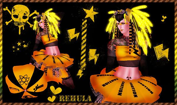 Rehula cybergoth caution