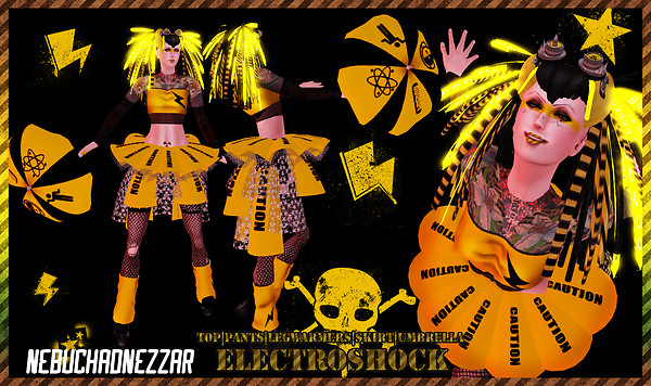 NDN - ElectroShock Cybergoth Outfit