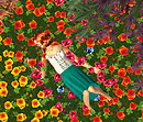 Iskra in flowers