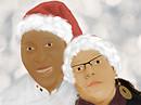 Dad and me. Christmas 2009