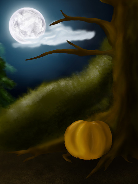 Little witch background - not finish