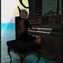 playing organ