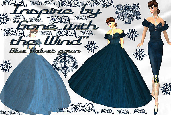 gone w the wind bluevelvet gown_005