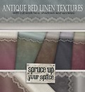 Antique Bed Linen textures by insight designs
