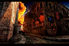 Glow On Grunge Street