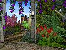 purple rose gazebo