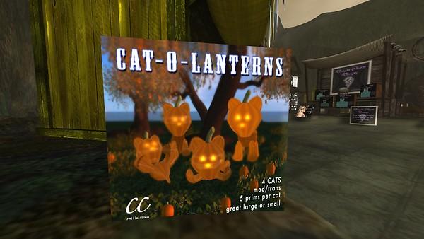 CAT-O-LANTERN pack of 4 - Torley Linden