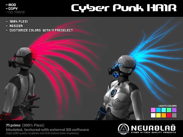 [NeurolaB Inc.] Cyber punk hair_ v1.0_vendor