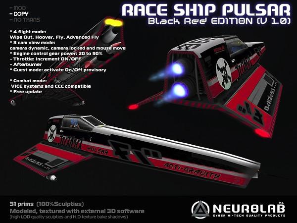[Neurolab Inc] Race Ship Pulsar (black-red) v1.0.95 vendor