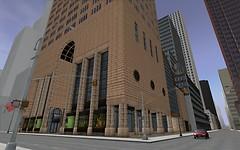 Sony building, street level