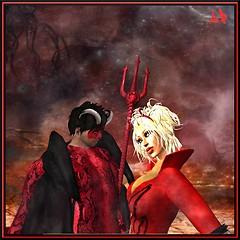 Devils dances at Halloween