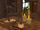 table candle and angry marshmellows - Ravenelle Zugzwang