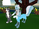 Kittie's a kitty and Thalia's a SKUNKTAUR!!! :D