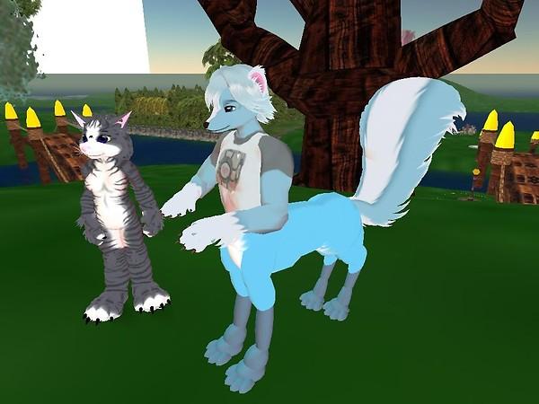 Kittie's a kitty and Thalia's a SKUNKTAUR!!! :D