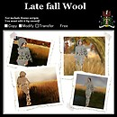 Late fall wool Poster