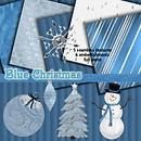 Blue Christmas Free Texture Pack