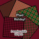 Plaid Holiday   Free Texture Pack