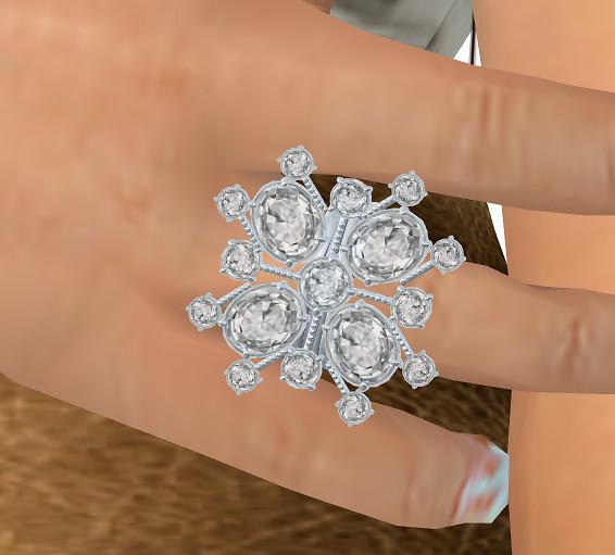 Snowflake Cocktail Ring