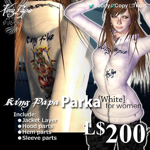 King-Papa 2010 New Parka White