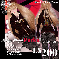King-Papa 2010 New Parka Red