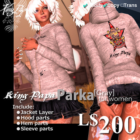 King-Papa 2010 New Parka Gray
