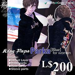 King-Papa 2010 New Parka Blue